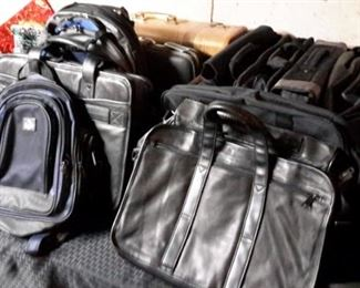 LOTS of backpacks, briefcases, carry-alls, most never used!