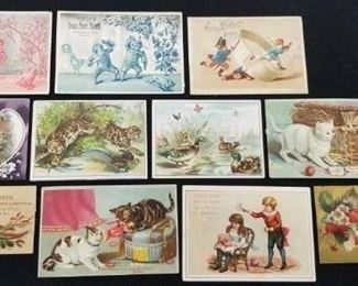 Victorian Trade Card Lot - 3 of 3 pictures, 35 cards total
