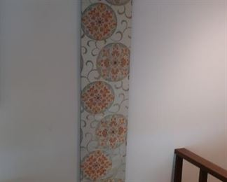 two  fabric wall  pieces