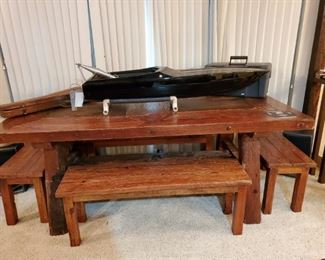 Awesome Dining Table with Benches