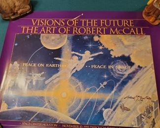 Robert McCall Signed Poster