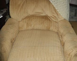Nice corduroy chair with  ottoman