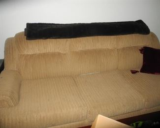 Sofa, corduroy type fabric, nice and comfy