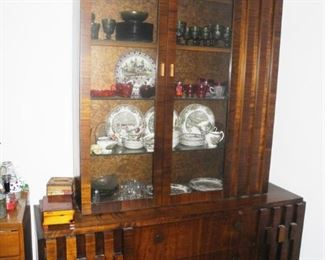 Lane Mid-Century Modern Brutalist style china cabinet  - Beautiful!