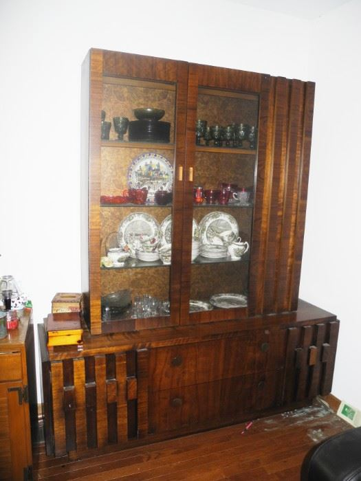 Lane Mid-Century Modern Brutalist style china cabinet  - Beautiful!