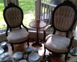 Matching Victorian parlor chairs