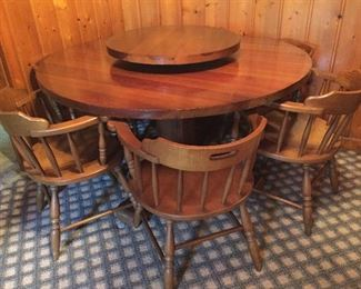 Custom Table Made by Billy Tussey (from Lexington) -Wood From Robert E. Lee Hotel in Winston Salem