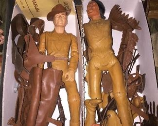 Marx Johnny West & Chief Cherokee Figures/Accessories