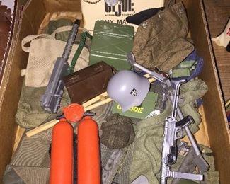 G.I. Joe Accessories(German Helmet, German Machine Gun and more)