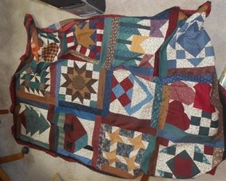 Premade quilt top (needs batting and backing)