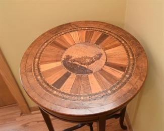 Vintage Inlaid Accent Table