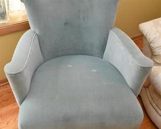 Pair of Light Smoky Blue Armchairs