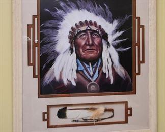 Framed Southwestern / Native American Artwork, Signed