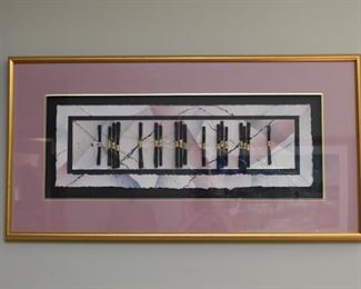 Abstract Paper Art / Artwork, Signed