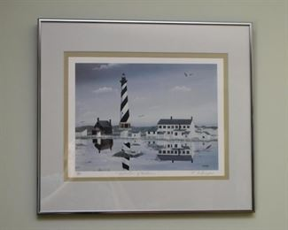 Framed Limited Edition Lighthouse Print, Signed & Numbered
