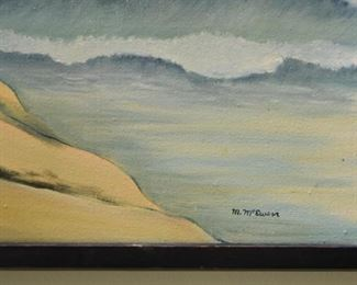 Framed Seascape Painting, Signed M. McEwen