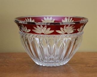 Cut Crystal / Glass Bowl