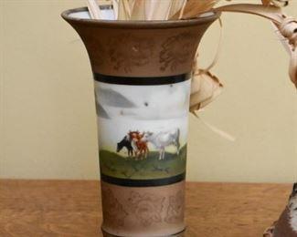 Art Pottery Vase (Cows)