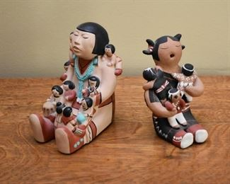 Native American Pottery Figurines