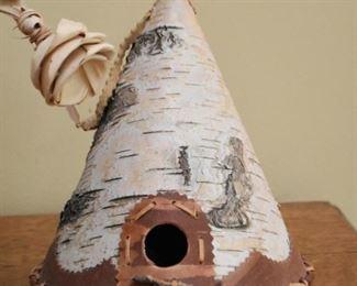 Birch Tree Bark Teepee Figurine