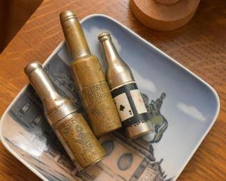 Miniature Metal Bottle Corkscrews & Lighter