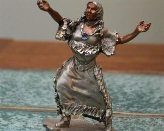 Metal Sacajawea Figurine