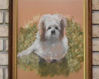 Framed Painting of Dog