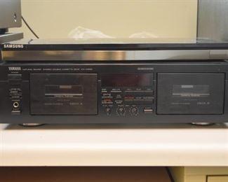 Yamaha Double Cassette Deck, Samsung Blu-ray 3D Player