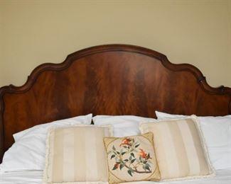 King Size Flame Mahogany Bed