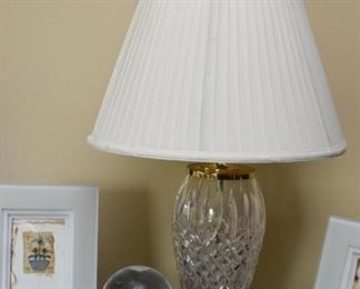 Pair of Crystal Table Lamps