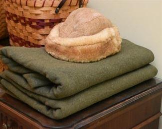 Vintage Wool Blankets, Men's Winter Hat