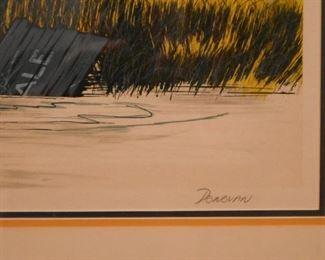Framed Artwork, Signed Donovan