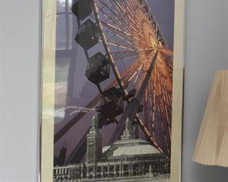 Framed Navy Pier Poster