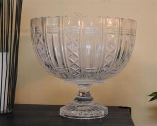 Large Crystal Centerpiece Pedestal Bowl