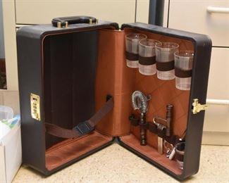 Vintage Travel Bar Set