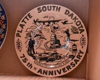 South Dakota Souvenir Plate