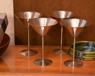 Metal Martini Glasses