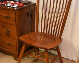 Mission Style Oak Dining Chairs (Set of 4)