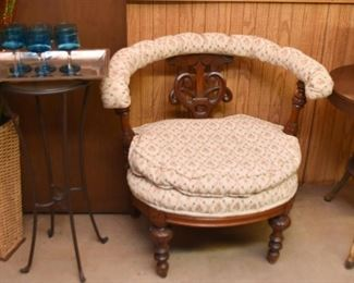 Antique Chair with Curved Back
