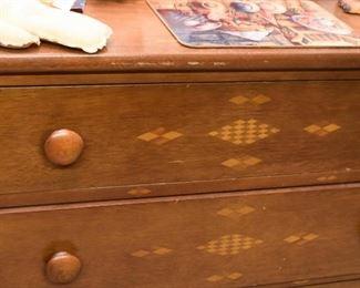 Vintage 3 Drawer Chest / Dresser