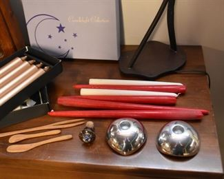 Candles, Candle Holders, Wooden Utensils