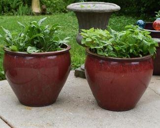 Glazed Garden Planters