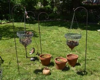 Terra Cotta Flower Pots, Hanging Planters, Shepard's Hooks