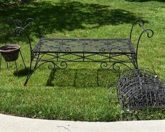 Garden Bench, Metal Garden Fencing