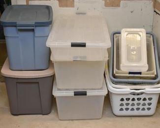 Plastic Storage Bins, Laundry Baskets