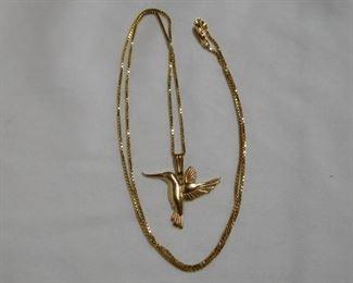 18 k  Hummingbird and Chain