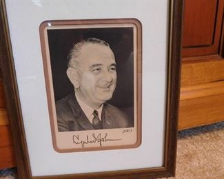 1963 Autographed Photo of President Johnson