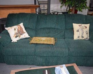 Sofa, Pillows, & Tray