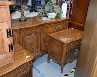 Vintage Sideboard & Side Table