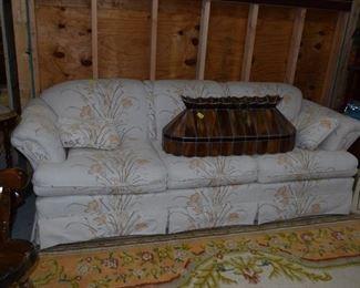 Sofa & Vintage Light Fixture